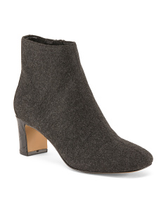 Low Booties With Block Heel