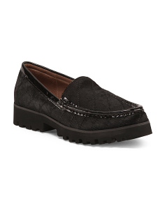 Lug Bottom Leather Loafers