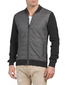 Baffle Zip Sweater Jacket
