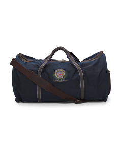 Applique Wax Leather Holdall