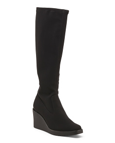 High Shaft Wedge Boots