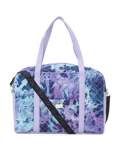 Tie Dye Denim Canvas Weekender