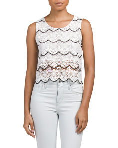 Juniors Crochet Lace Crop Top
