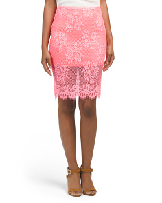 Juniors Lace Midi Skirt