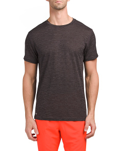 Jacquard Fabric Loose Crew Neck Tee
