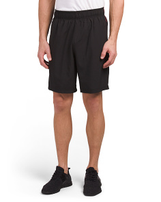 Woven Shorts With Side Stitch