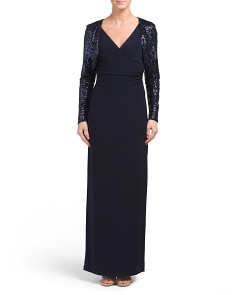Miliana Gown With Sequins