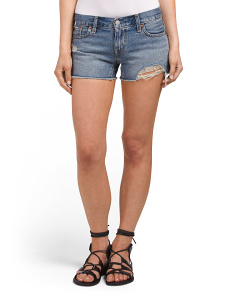 Juniors Shortie Cut Off Shattered Dusk Shorts