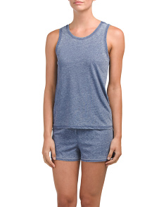 Muscle Tank With Shorts Lounge Set