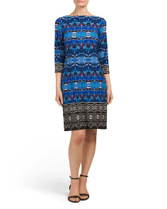 Ikat Medallion Shift Dress