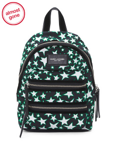 Biker Flocked Star Mini Backpack