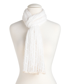 Lace Trim Distressed Scarf
