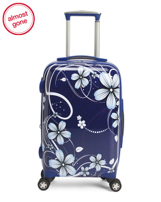 21in Floral Hardside Carry-on