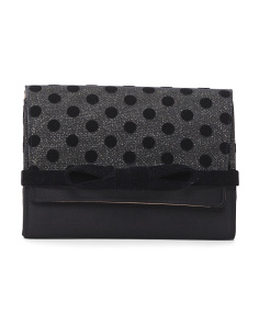 Made In Italy Glitter Bow Clutch