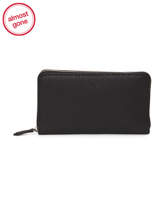 Made In Italy Selleria Zip Around Leather Wallet