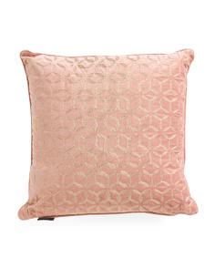 20x20 Velvet Metallic Stitch Pillow