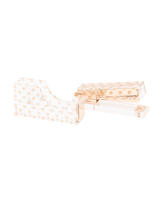 Polka Dot Stapler And Tape Dispenser