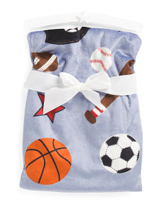 Kids Sports Micromink Throw