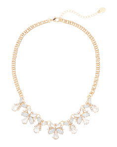 Crystal Statement Necklace In White