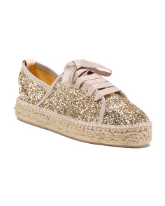 Made In Spain Glitter Espadrille Sneakers