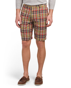 Poplin Reversible Madras Shorts