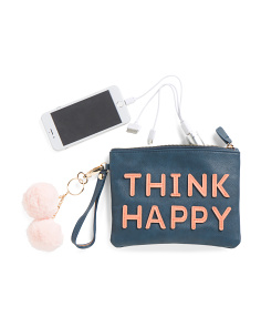 Think Happy Pouch With Charger