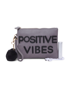 Positive Vibes Charging Wristlet