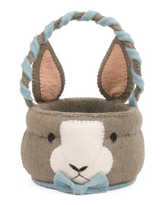 10in Felt Mr. Bunny Easter Basket