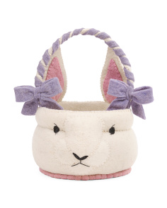 10in Felt Mrs. Bunny Easter Basket