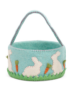 10in Felt Easter Basket