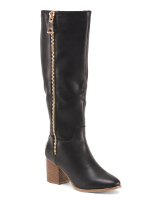 High Shaft With Side Zip Boots