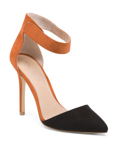 Two-Toned D'orsay Suede Pumps