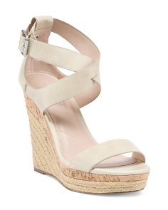 Espadrille Wedge Leather Sandals