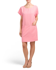 Juniors Shift Dress With Pockets