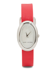 Women's Cicely Oval Dial Leather Strap Watch
