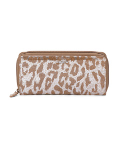 Sophia Ada Safari Leather Zip Wallet