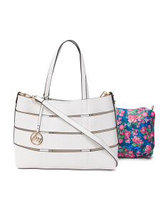 2pc Tote With Printed Pouch