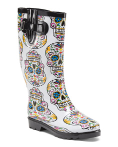 High Shaft Skull Rain Boots