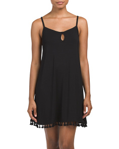 Keyhole Chemise With Tassels