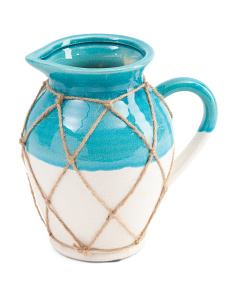 Milk Jug Rope Ceramic Vase