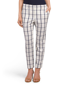 Treeca 2 Mix Check Wool Blend Pants