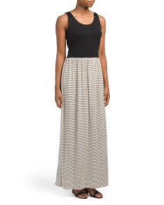 Sleeveless Scoop Neck Maxi Dress