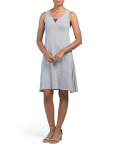 Sleeveless Dress With Mesh Insert