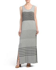 Sleeveless Striped Maxi Dress