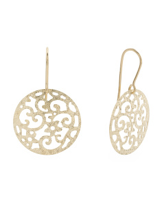 Made In Italy 14k Gold Openwork Earrings