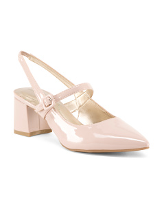 Block Heel Slingback Pumps