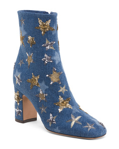 Made In Italy Gold Star Booties