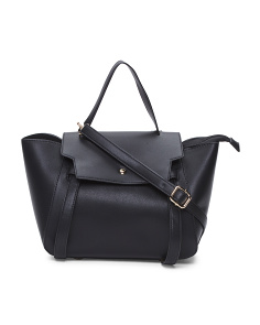Flap Front Knot Detail Satchel