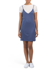 Juniors Mesh Tee 2fer Dress