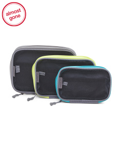 3pc Mesh Travel Packing Cubes